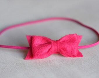 Small Felt Bow Headband - Pick 2