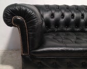 Victorian Leather Chesterfield sofa 'antique green'
