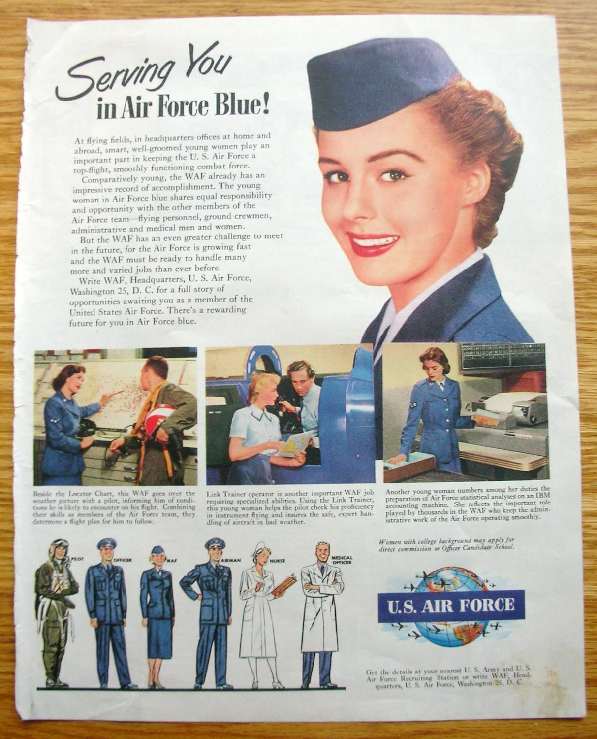 Vintage Magazine Ad Air Force