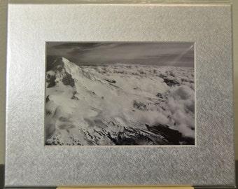 SALE - Mt. Hood Tree Line - 5x7 metallic print prematted - photograph
