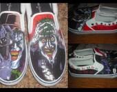 Custom Made Shoes (Example: Batman Joker Killing Joke Shoes)