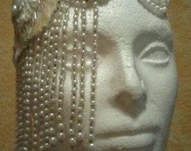 Gatsby 20's Style Vintage Inspired Waterfall Pearl Sequin Beaded Bridal Headpiece Wedding Club Party Belly Dance Costume Burlesque