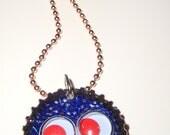 Googly Eye Bottle Cap Necklace
