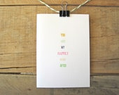 You Are My Happily Ever After Greeting Card. Wedding Card. Love Card. Valentines Day Card