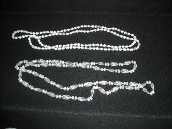 vintage clear plastic necklaces....27