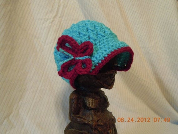 Girls Crochet Butterfly Newsboy Hat