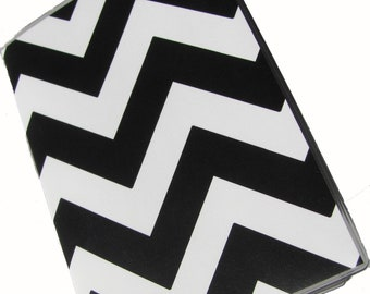 Chevron Passport Case Cover Holder -- Black