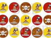 Instant Download Pirate Kids (2) 1 in Bottlecap Images Digital Sheet