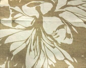 "Raoul Textiles ""Sea Leaf"" Hand Printed Linen Drapery Panels'"