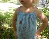 Girl's Dress, upcycled Yoga t-shirt