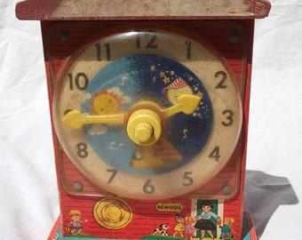 1968 Fisher Price Music Box Teaching Clock