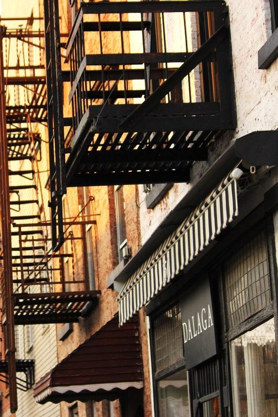 Fire Escape II Brooklyn Architectural Photography Urban 8x10 New York Wall Art