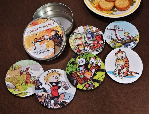Calvin and Hobbes Coaster Set six different ones Adventures Best Friends make Believe