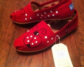 Ladybug handpainted TOMS shoes