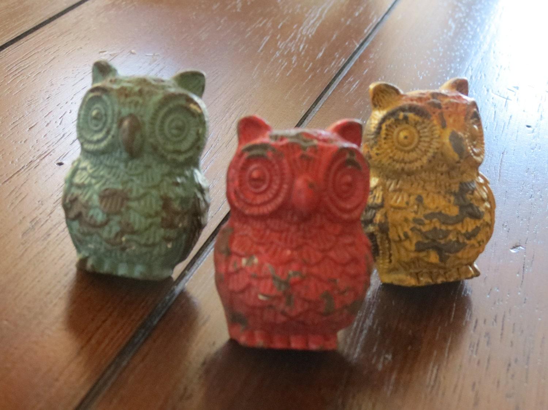 Dresser Drawer Knobs / Owl Drawer Knobs / Multi Color Drawer Pulls ...