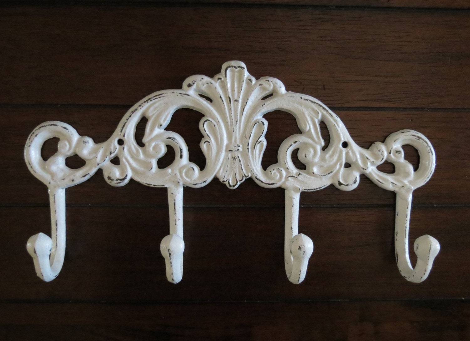 Wall towel hook coat hook rack antique white or pick color for White wall hook rack