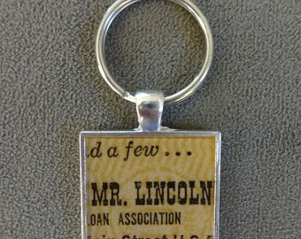 Rare Vintage Disneyland Great Moments with Mr. Lincoln Ticket Key Chain