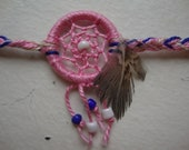 Pink dream catcher bracelet