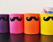 Mustache Koozies - Set of 4