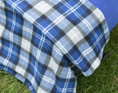 "Fleece Blanket/Throw (Plaid Pattern, Approx 60"" x 57"")"
