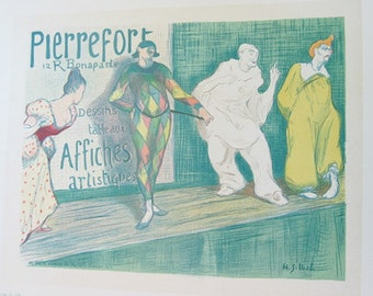 H.G.Ibels, Maitres de L'Affiche Poster, French1898, Plate No.102, Ad for Pierrefort art publishing company.