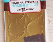 Martha Stewart Scalloped Edge Gold Embossed Mailing Seals, new in package