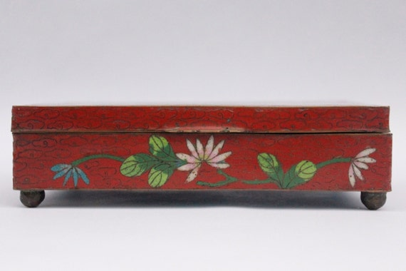 Enamel Chinese Jewelry  Box