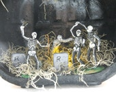 Halloween Diorama Monster Mash in the Graveyard Table Decoration - lifetimeofhandmade