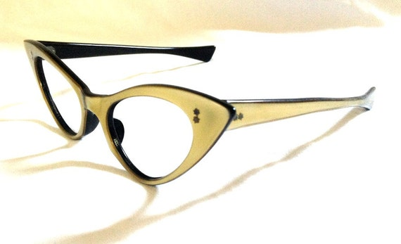 Eyeglass Frame Adjustment Techniques : Vintage Cateye Eyeglasses by Frame France Bronze by ...