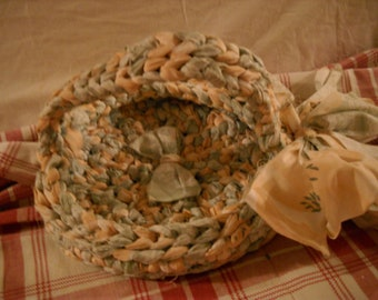 "Vintage Fabric ""Tray"" Basket"