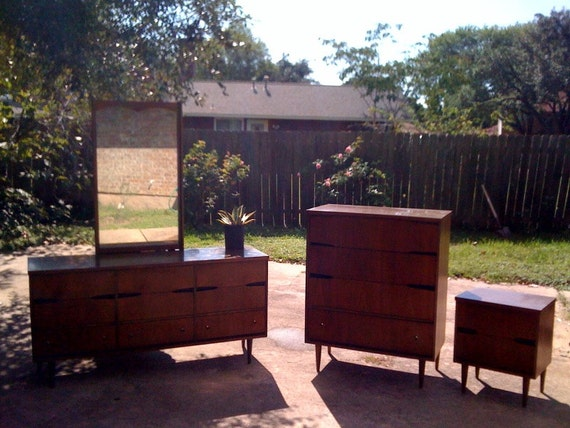 Unavailable listing on etsy for Vintage danish modern bedroom furniture