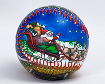 Night Before Christmas Baseball, Christmas Gift, Baseball Fan, Christmas Collectible (HB09)