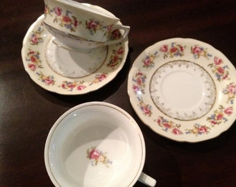Occupied Japan Tea Cup and Saucer Sets (2)