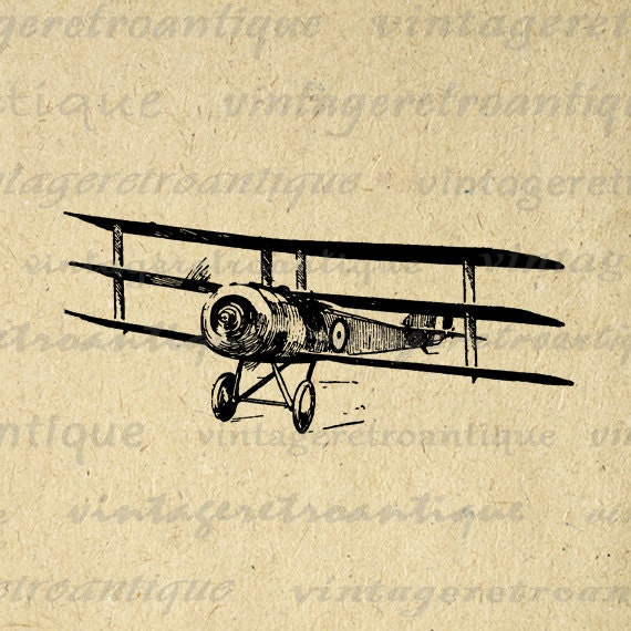 Digital Graphic Vintage Airplane Download By