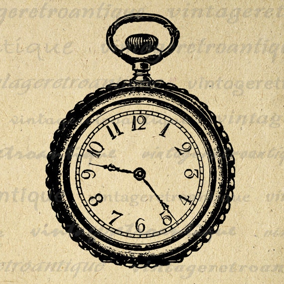 Antique Pocket Watch Graphic Image Digital by ...
