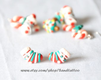 Sale-Christmas Sock Earrings, Chomper Earrings