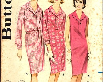 1960's Vintage Butterick Pattern 3069, Size 14 Misses' Proportioned Sheath Dress