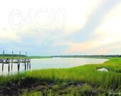 A pier on the River off Bowens Island South Carolina (16 x 20 canvas)