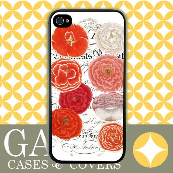 iPhone 6 Case, iPhone 6 Plus Case, iPhone 6 Edge Case, iPhone 5 Case, Galaxy S6 Case, Galaxy S5 Case, Galaxy Note 5 Case - Orange Carnations