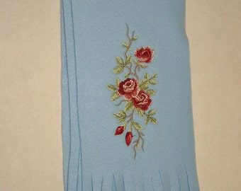 SALE Embroidered Rose Scarf