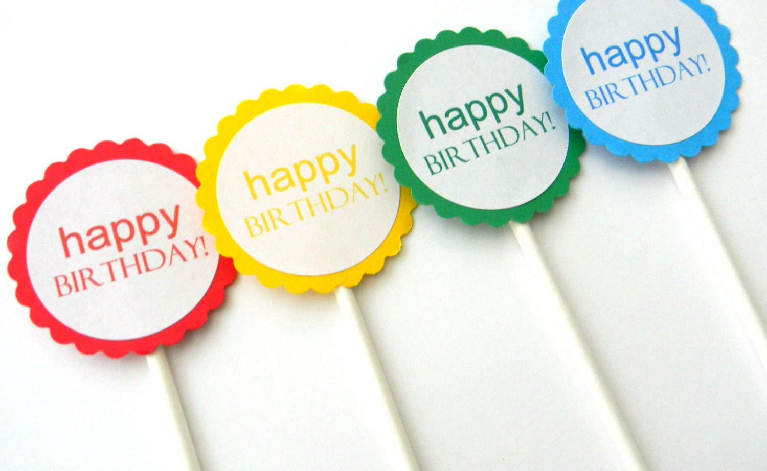 Happy Birthday Cupcake Topper ~ Happy birthday cupcake toppers