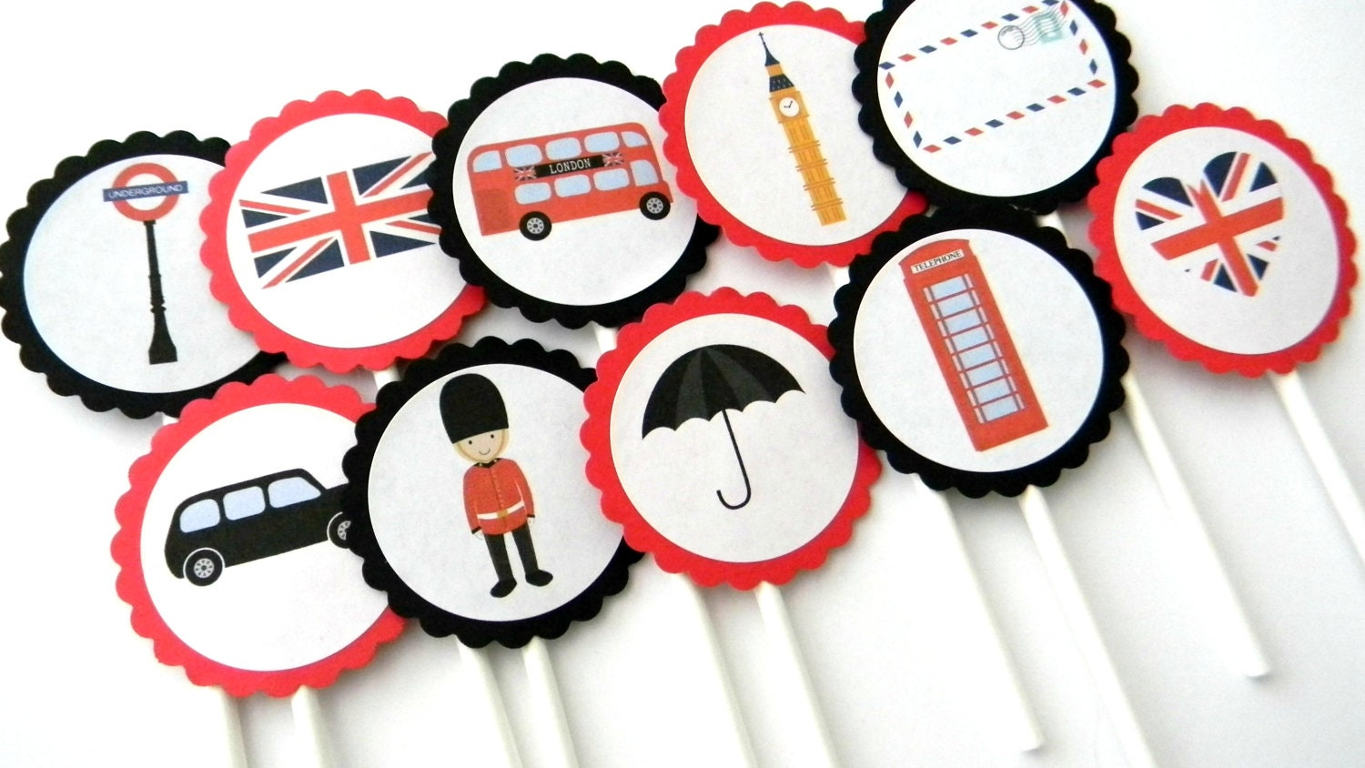 london themed wedding cake toppers 12 cupcake toppers theme going away 16927
