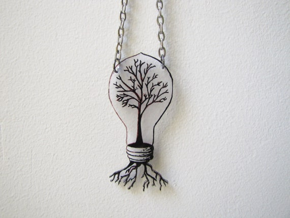 science and nature necklace- tree necklace