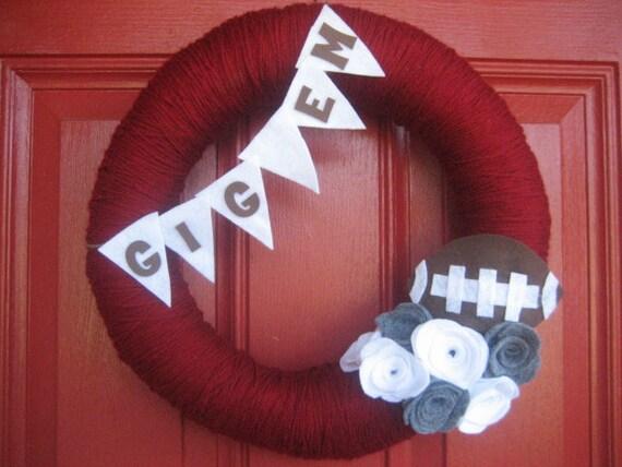 Aggie Yarn/Felt Wreath