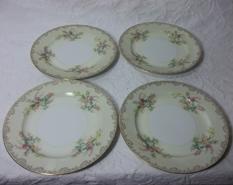 Vintage, Antique Meito China Plates. Burbank Hand Painted Dessert/ Salad Dishes