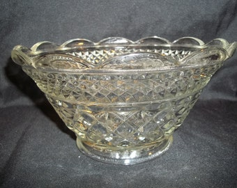 Vintage Cut Glass Bowl, Serving Dish.