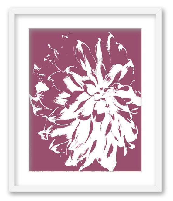 Dahlia flower. Art Print Wall Art Home decor 11x14 print. FREE SHIPPING
