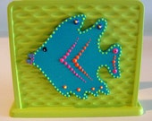 Bright Funky Lime Green Tropical Fish Napkin Holder