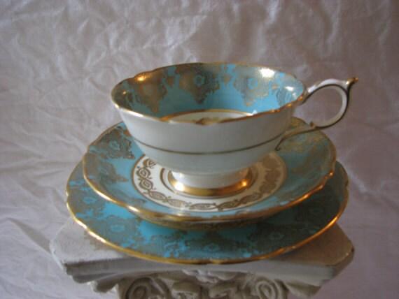 Paragon Three Piece Porcelain Tea Cup English Bone China