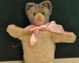 Steiff Tabby Cat Hand Puppet (c.1950's)